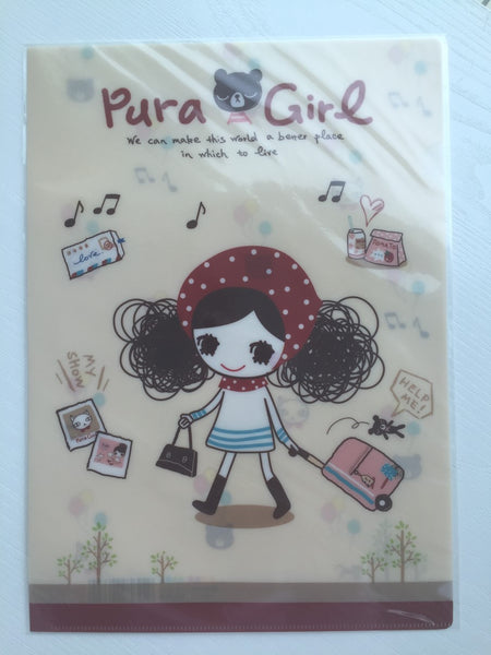 Pura Girl A4 plastic file folder - CharmTape - 1