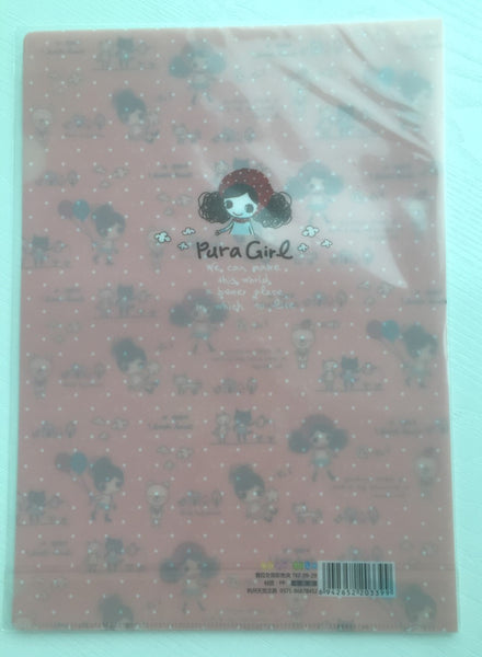 Pura Girl A4 plastic file folder - CharmTape - 3