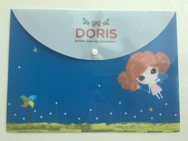 Doris Ginger Girl A4 plastic folder envelope - CharmTape - 1