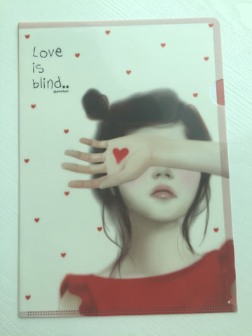 Pinkfoot Pretty Girl A4 plastic file folder - Love is Blind - CharmTape - 1