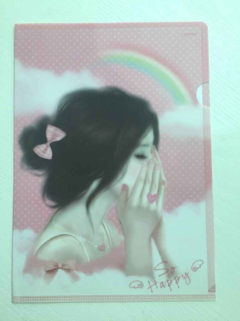 Pinkfoot Pretty Girl A4 plastic file folder - So Happy - CharmTape - 1