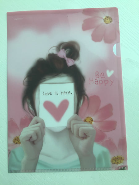 Pinkfoot Pretty Girl A4 plastic file folder - Love is here - CharmTape - 1