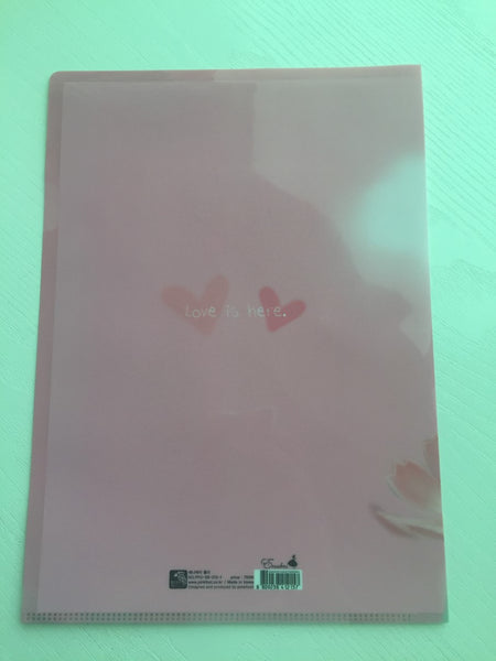 Pinkfoot Pretty Girl A4 plastic file folder - Love is here - CharmTape - 2