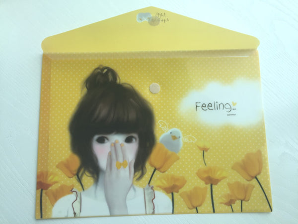 Pinkfoot Pretty Girl A4 plastic folder envelope - Feeling - CharmTape - 3
