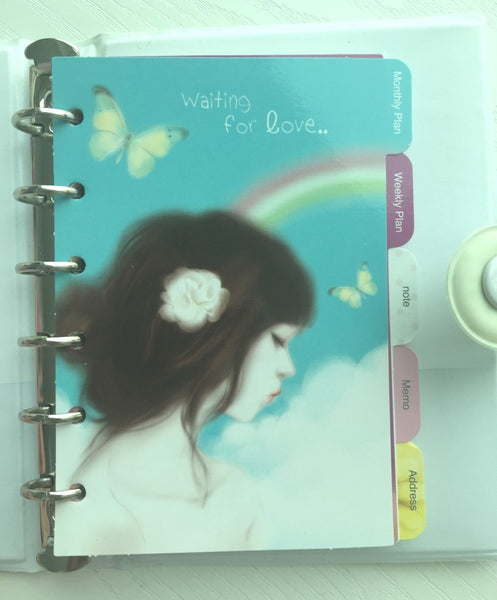Girl's Romance Filofax Daily Planner Scheduler from Pinkfoot Korea - CharmTape - 2