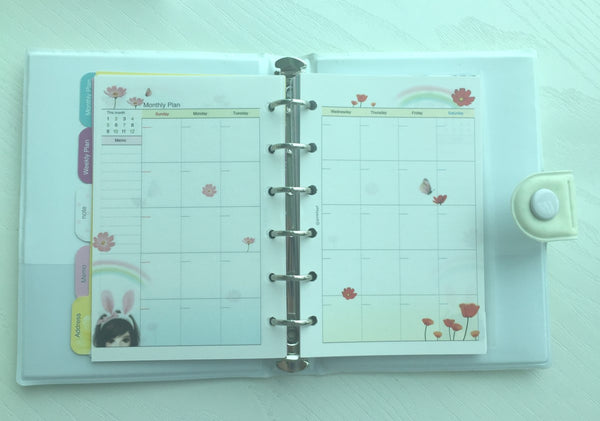 Girl's Romance Filofax Daily Planner Scheduler from Pinkfoot Korea - CharmTape - 3