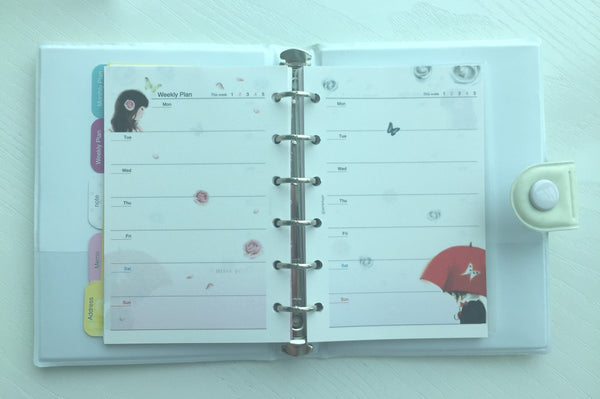 Girl's Romance Filofax Daily Planner Scheduler from Pinkfoot Korea - CharmTape - 4