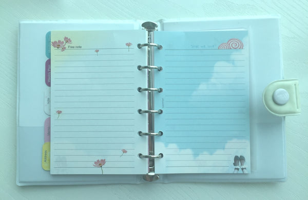 Girl's Romance Filofax Daily Planner Scheduler from Pinkfoot Korea - CharmTape - 5