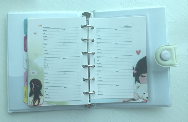 Girl's Romance Filofax Daily Planner Scheduler from Pinkfoot Korea - CharmTape - 6