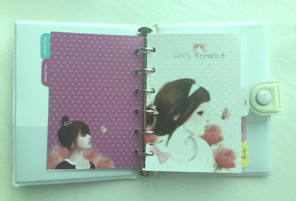Girl's Romance Filofax Daily Planner Scheduler from Pinkfoot Korea - CharmTape - 8