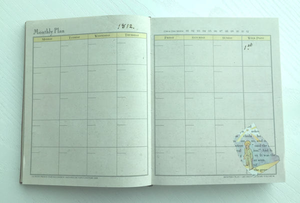 Le Petit Prince Daily Planner Scheduler from Korea - CharmTape - 7
