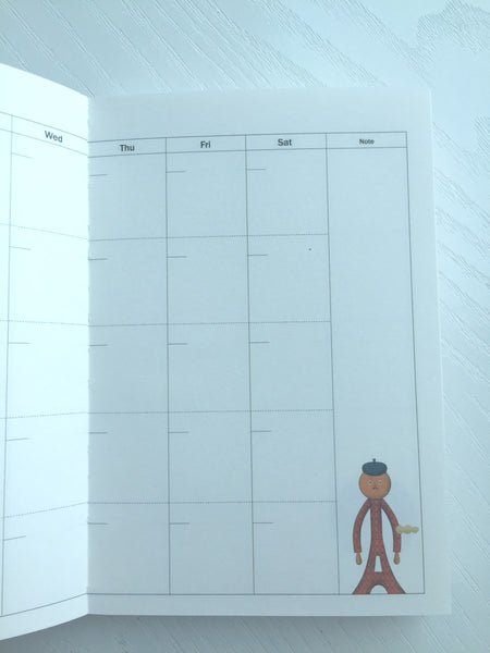 Undated Daily Planner Journal Scheduler by invite.L from Korea - CharmTape - 10