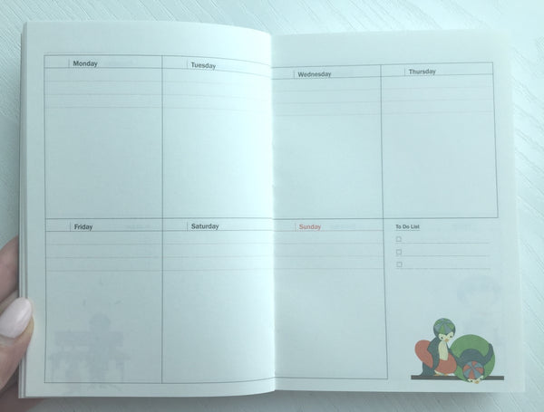 Undated Daily Planner Journal Scheduler by invite.L from Korea - CharmTape - 12