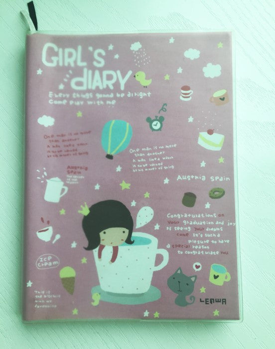 Girl Daily Planner Scheduler - in Pink - CharmTape - 1