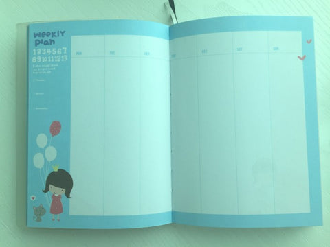 Girl Daily Planner Scheduler - Winter Theme - CharmTape - 2