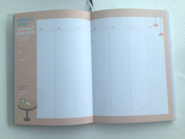 Party Girl Daily Planner Scheduler - in beige - CharmTape - 4