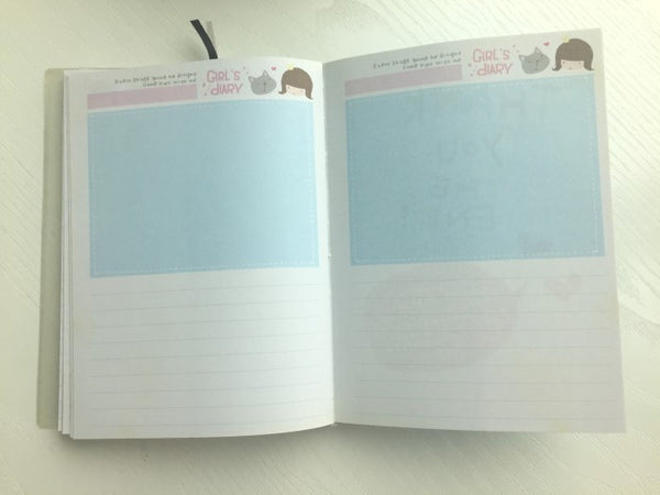 Girl Daily Planner Scheduler - in Pink - CharmTape - 9