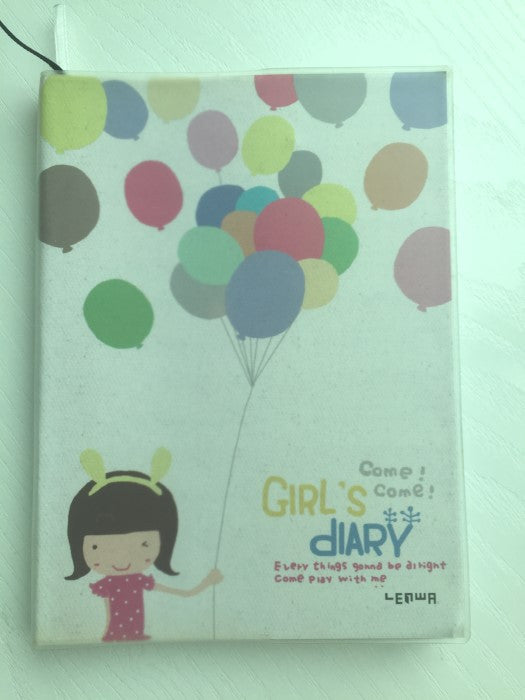 Party Girl Daily Planner Scheduler - in beige - CharmTape - 1