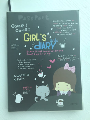 Girl Daily Planner Scheduler - in Black - CharmTape - 1