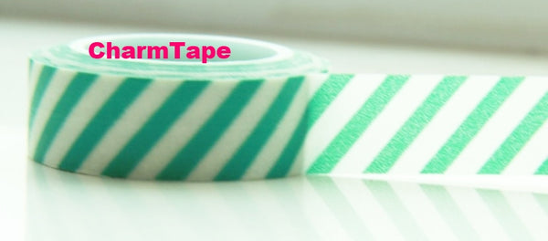 Stripes Washi Masking Tape Roll 15mm WT38 - CharmTape - 12