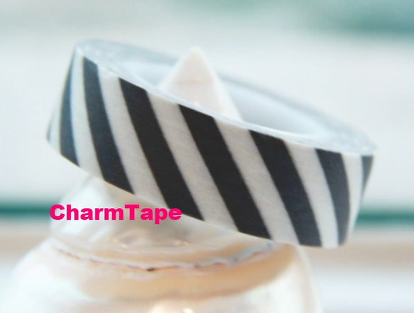 Stripes Washi Masking Tape Roll 15mm WT38 - CharmTape - 8