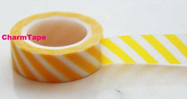 Stripes Washi Masking Tape Roll 15mm WT38 - CharmTape - 9