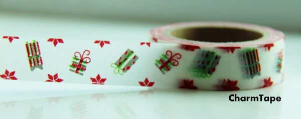 Festive Present Gift washi Paper Tape 15mm x 10 meters WT101 - CharmTape - 3