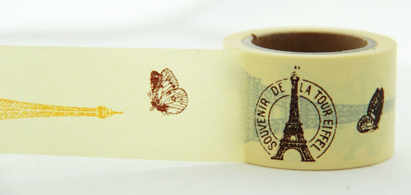 In Love with Paris Big Washi Masking Tape 30mm WT857 - CharmTape - 2