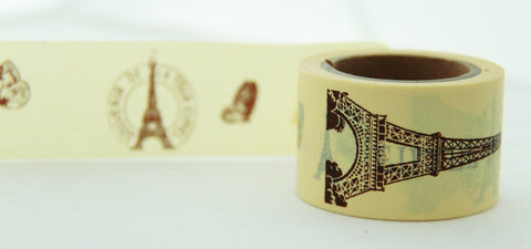 In Love with Paris Big Washi Masking Tape 30mm WT857 - CharmTape - 1