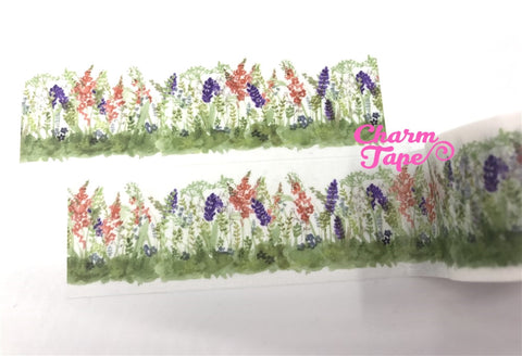Spring Flower Field Big Washi Tape (30mm x 5m) WT1048