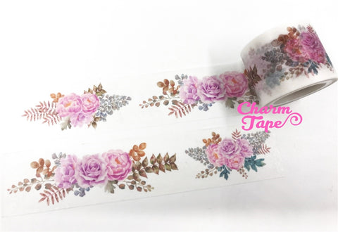 Pink Flower Bouquet Big Washi Tape (30mm x 5m) WT1049
