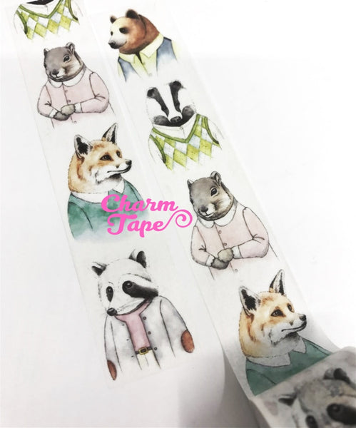 Dress up Animal Big Washi Tape (30mm x 5m) WT1051