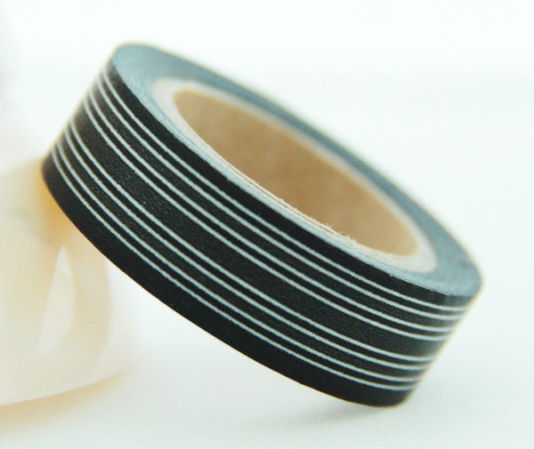 Stripes Washi Masking Tape 15mm x 10m WT164 - CharmTape - 6