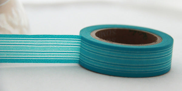 Stripes Washi Masking Tape 15mm x 10m WT164 - CharmTape - 8