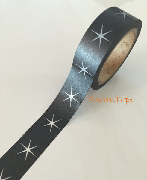Festive Stars Washi tape 15mm x 8meters WT703 - CharmTape - 3