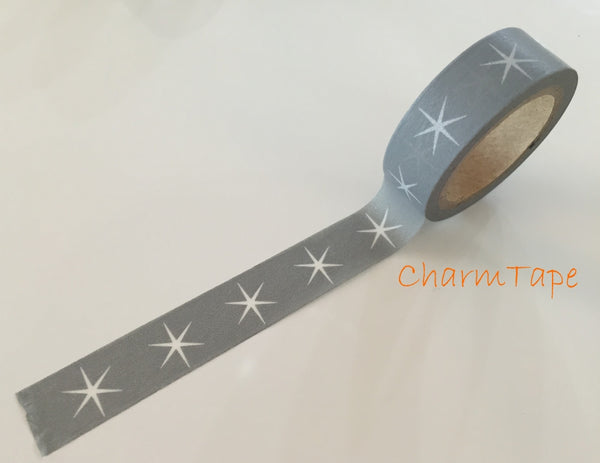 Festive Stars Washi tape 15mm x 8meters WT703 - CharmTape - 5