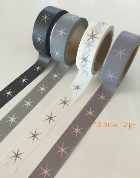 Festive Stars Washi tape 15mm x 8meters WT703 - CharmTape - 8