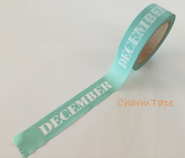 December washi tape 18mm x 8meters WT704 - CharmTape - 4
