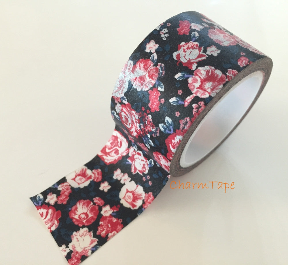 Peony Flower - Big Washi Tape 30mm - CharmTape - 1