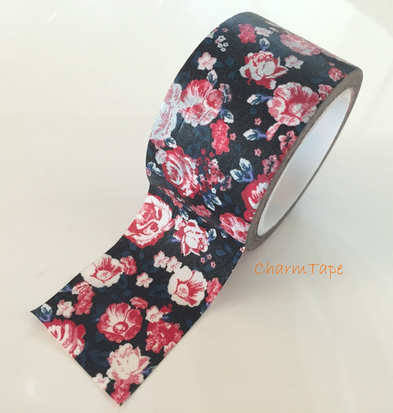 Peony Flower - Big Washi Tape 30mm - CharmTape - 2