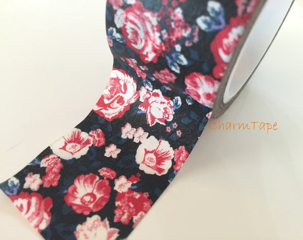 Peony Flower - Big Washi Tape 30mm - CharmTape - 3