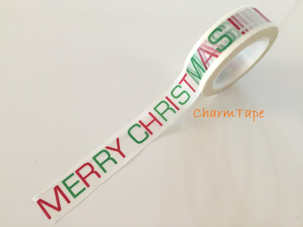 Copy of Red Christmas Trees on Blue Washi Tape 15mm x 10 meters WT99 - CharmTape - 2