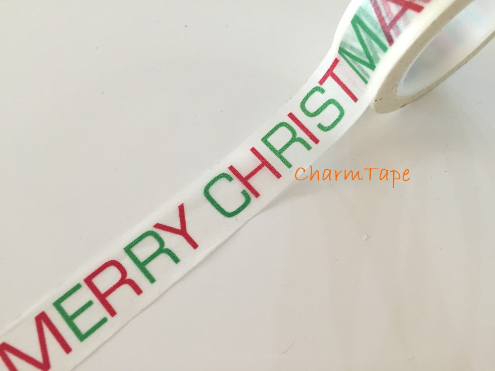 Copy of Red Christmas Trees on Blue Washi Tape 15mm x 10 meters WT99 - CharmTape - 1