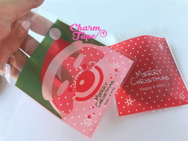 Festive Santa Claus Gift Bags Cello Self-adhesive Cookie bags - Favors Bags 20/50/100 bags CB51