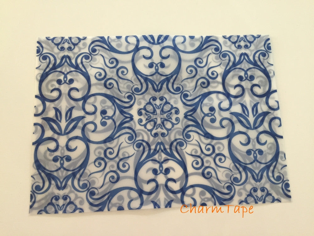 "4x6 Blue Gothic Cross Glassine Square Flap Envelopes for A6 cards (Pack of 10) 6.89""x 4.92"""