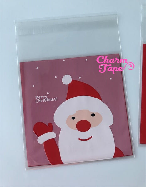 Festive Santa Claus Gift Bags Cello Bags Self-adhesive Cookie bags - Favors Bags - Party bags 20/50/100 bags CB59