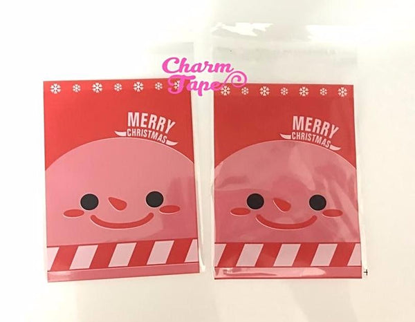 Festive Snowman Gift Bags Cello Self-adhesive Cookie bag - Favors Party bags 20/50/100 bags 7x10cm CB72