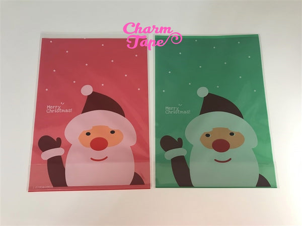 Festive Santa Claus Gift Bags Cello Bag - Party bags Set of 20/50/100 14x20 cm CB32