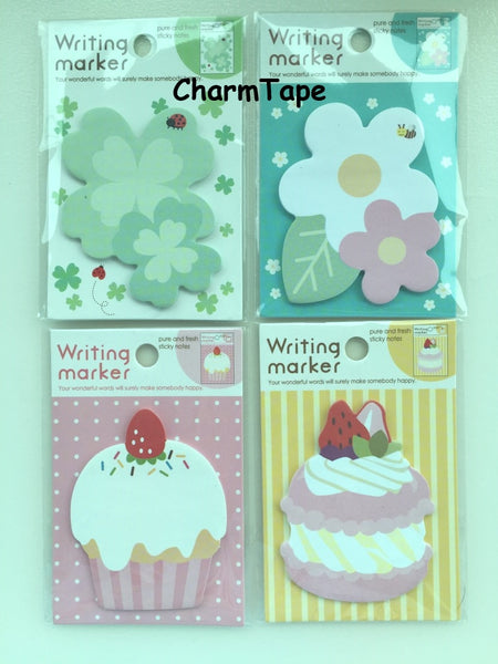Green Clover Leaf Sticky Post It Memo Note Pad 20 sheets SS376 - CharmTape - 2
