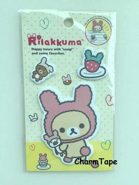 Copy of Rilakkuma bear Sticky Post It Memo Note Pad 45 sheets SS381 - CharmTape - 1